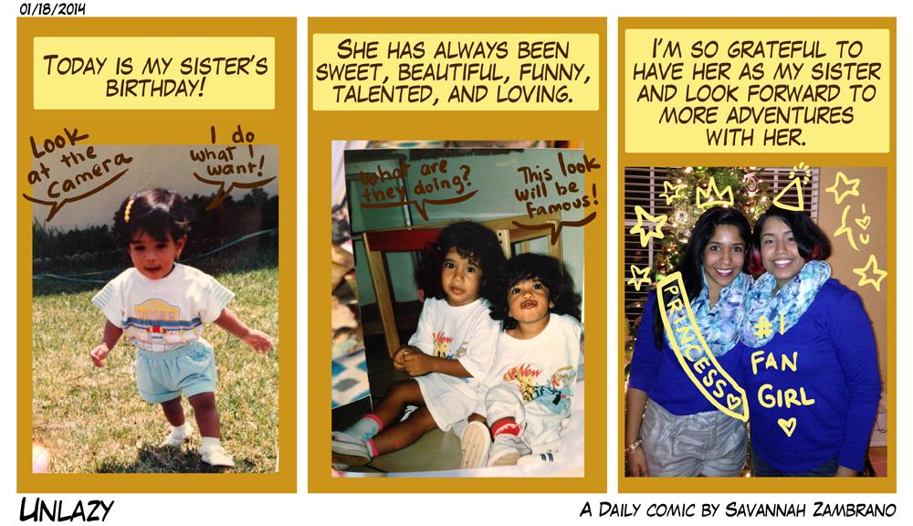 01/18/2014 Happy Birthday Sister!